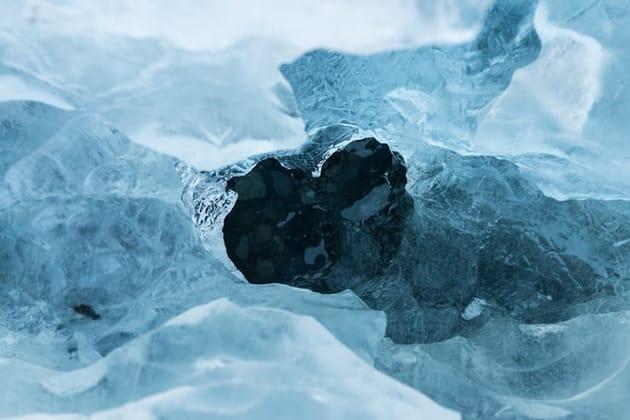 早く乾かす方法2:氷水