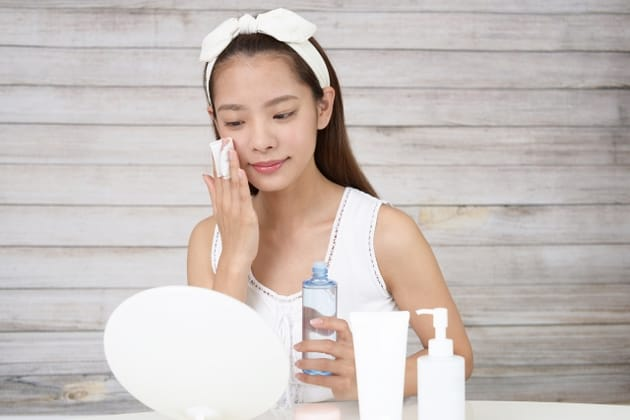ふき取り化粧水の効果について
