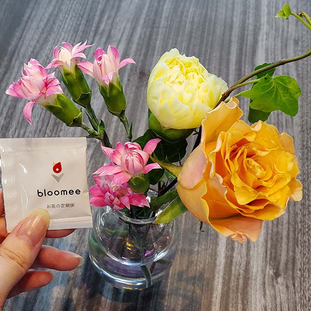 bloomeeから実際に届いたお花①