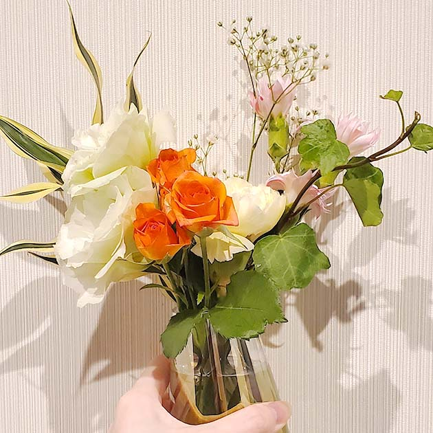 bloomeeから実際に届いたお花②